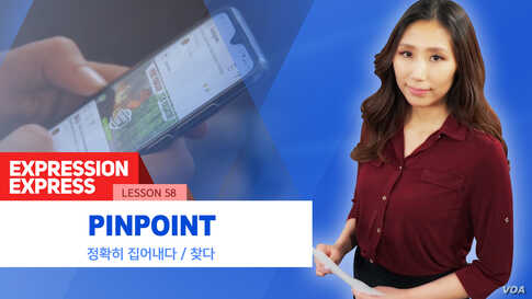 [Expression Express] 정확히 집어내다 'pinpoint'