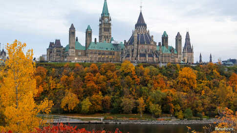 Parliament Hill the morning after the federal election in Ottawa, Ontario, Canada October 22, 2019.