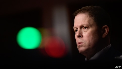 WASHINGTON, DC - FEBRUARY 23: Former U.S. Capitol Police Chief Steven Sund testifies during a Senate Homeland Security and…