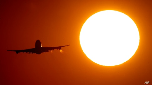 A Boeing 747 has taken off from the airport in Frankfurt, Germany, Friday, Aug. 7, 2020. Due to the coronavirus many airlines…