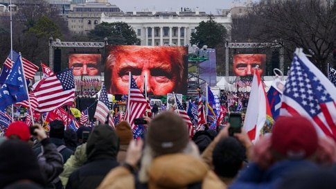 Trump supporters participate in a rally Wednesday, Jan. 6, 2021 in Washington. As Congress prepares to affirm President-elect…