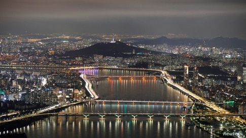 A night view of Seoul