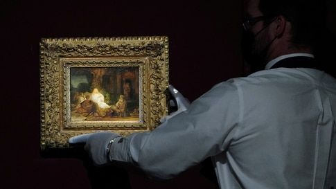 """Sotheby's to auction Rembrandt's """"Abraham and the Angels"""" in New York"""