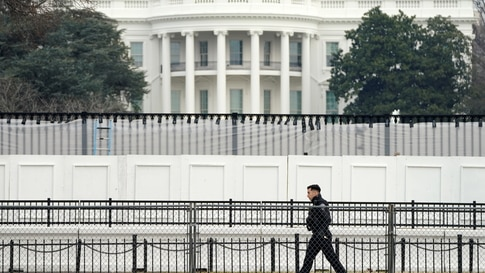 Security fencing at the White House in Washington