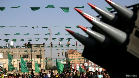 Anti-Israel rally in in the southern Gaza Strip