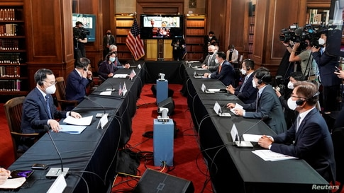 South Korean President Moon Jae-in meets with CEOs in Washington