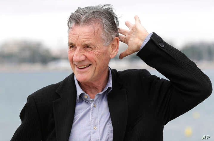 English comedian, actor, writer and television presenter Michael Palin poses during a photocall at the MIPCOM 2015 …