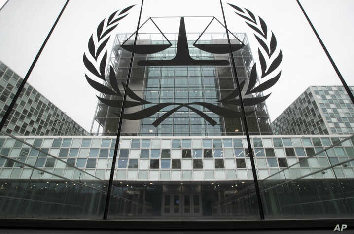 -FILE- In this Thursday, Nov. 7, 2019 file image the International Criminal Court, or ICC, is seen in The Hague, Netherlands…