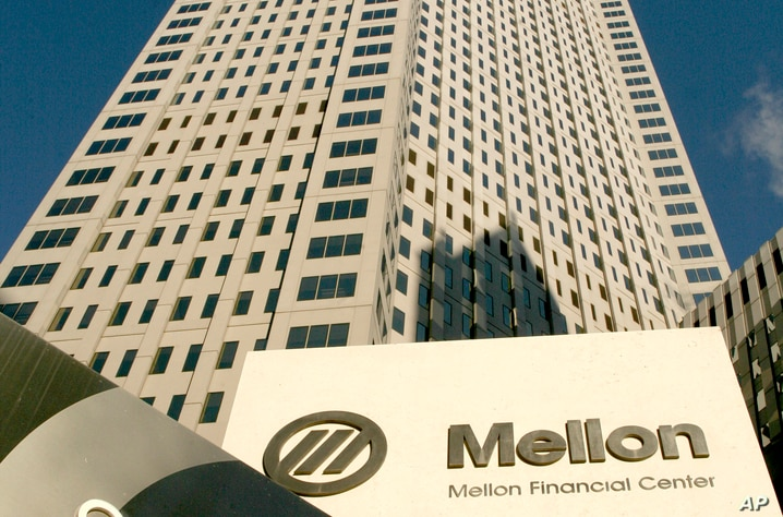 The One Mellon Center building is shown Monday, Dec. 4, 2006, in Pittsburgh. Bank of New York Co. has agreed to take over…