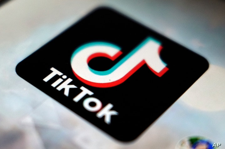 A logo of a smartphone app TikTok is seen on a user post on a smartphone screen Monday, Sept. 28, 2020, in Tokyo. (AP Photo…