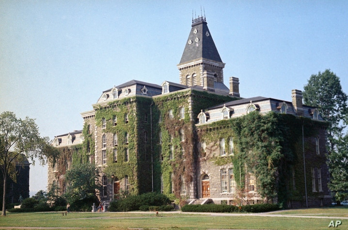 A view of McGraw Hall, built around 1870, on the campus of Cornell Unviersity, Ithaca, NY, Aug. 28, 1973 . (AP Photo/Jonathan…