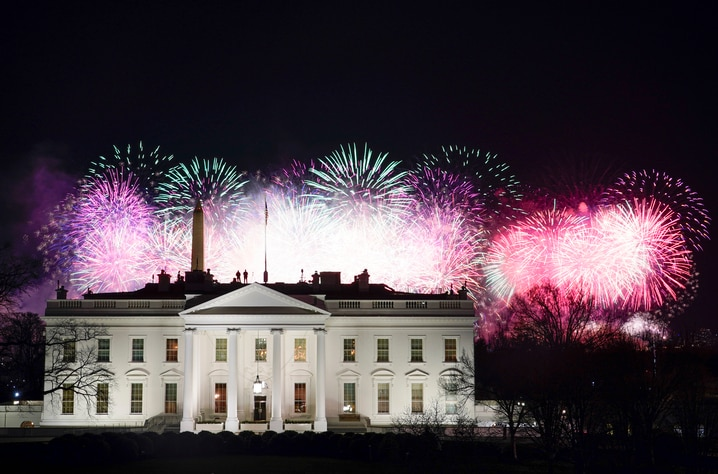Fireworks are displayed over the White House as part of Inauguration Day ceremonies for President Joe Biden and Vice President…
