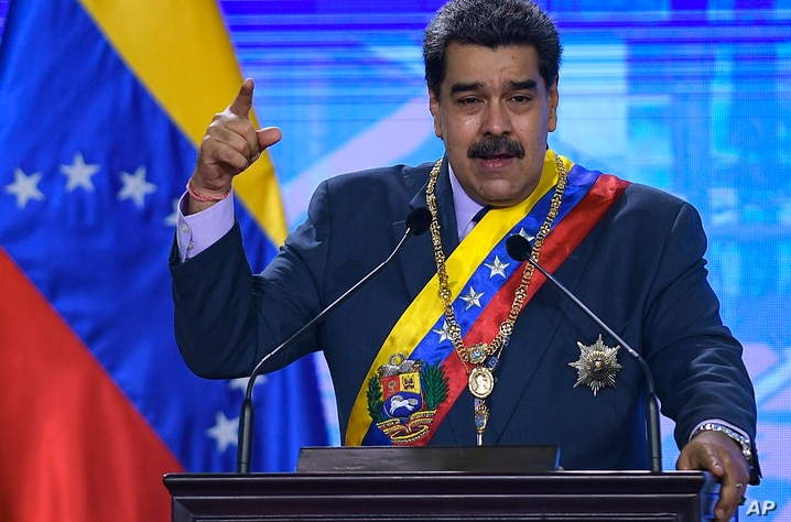 Venezuelan President Nicolas Maduro speaks during a ceremony marking the start of the judicial year at the Supreme Court in…