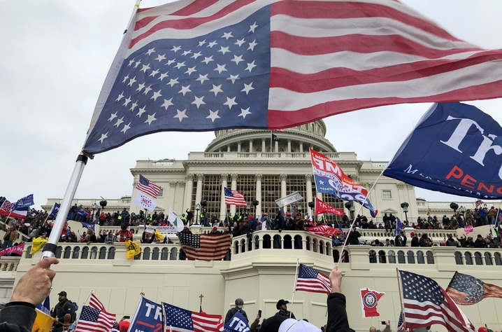 Supporters of U.S. President Donald Trump occupy the U.S. Capitol Building in Washington