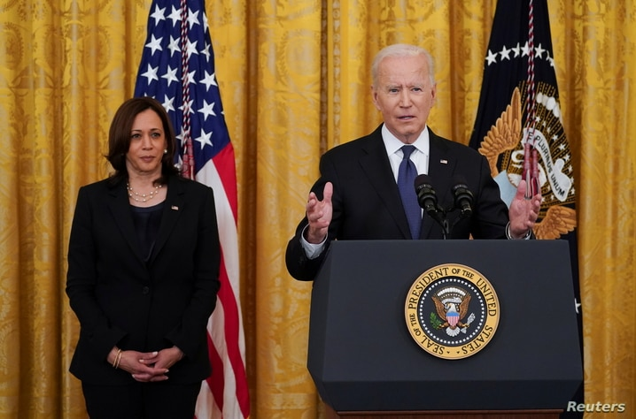 U.S. President Biden signs the COVID-19 Hate Crimes Act at the White House in Washington