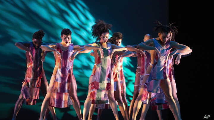 """Performers with Alvin Ailey American Dance Theater rehearse """"Divining"""" by choreographer Judith Jamison, Thursday, Dec. 5, 2019…"""