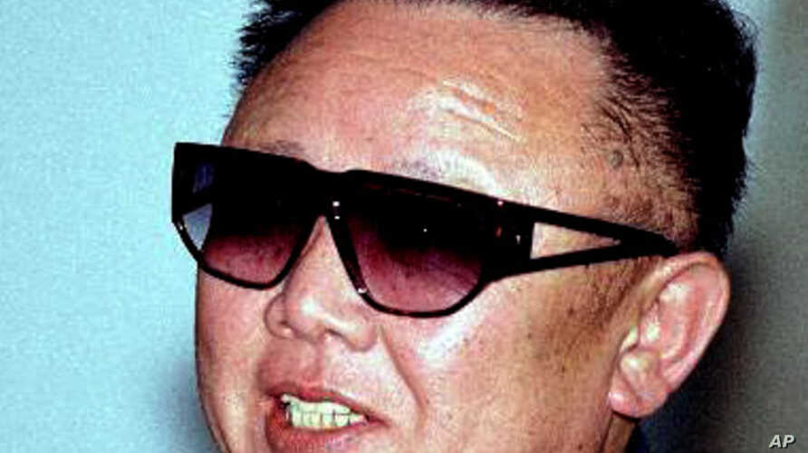 North Korea's leader Kim Jong Il speaks at Khasan railway station 300 kms (187 miles) south of Vladivostok, Thursday, July 26, 2001. North Korea's leader Kim Jong Il started a ten day train journey across Russia on Thursday, heading for Moscow on the Tran