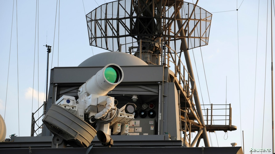The laser weapon system (LaWS) is tested aboard the USS Ponce amphibious transport dock during  an operational demonstration…