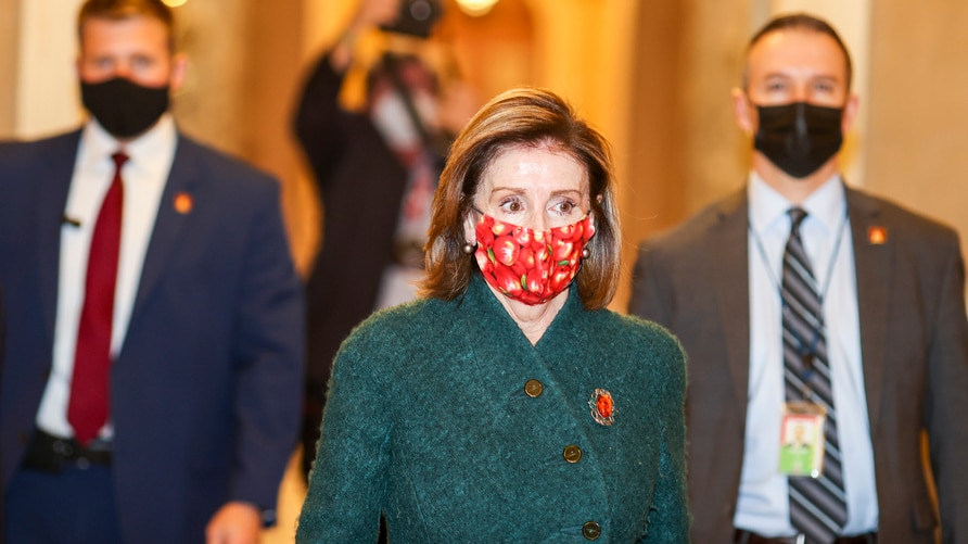 WASHINGTON, DC - DECEMBER 28: Speaker of the House Nancy Pelosi (D-CA) heads back to her office after she opened up the House…