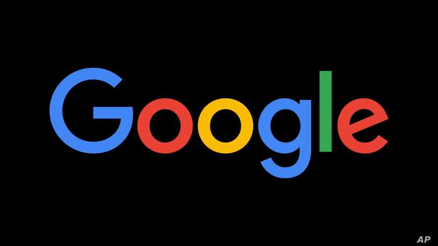 GOOGLE logo, graphic element on black