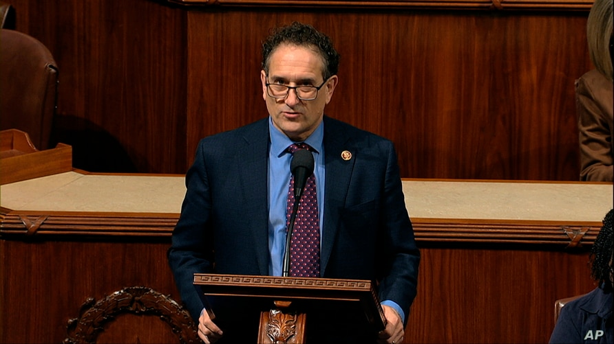 Rep. Andy Levin, D-Mich., speaks as the House of Representatives debates the articles of impeachment against President Donald…