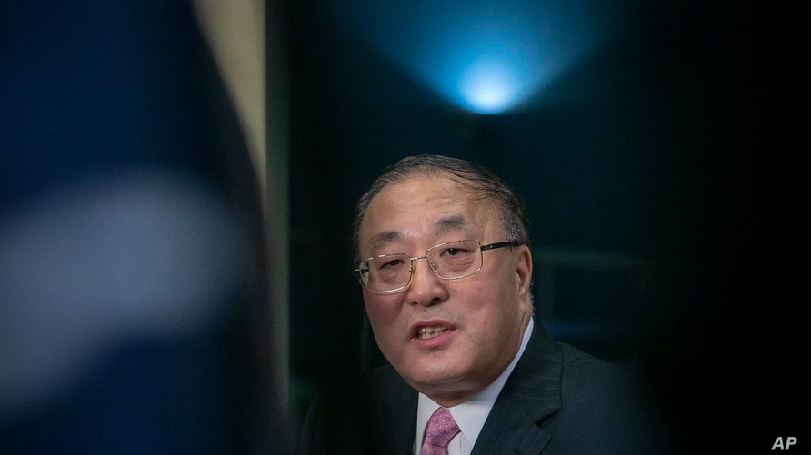 China's United Nations Ambassador Zhang Jun speaks during a press conference Thursday Jan. 30, 2020 at U.N. headquarters. The…