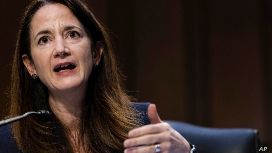 Director Avril Haines of the Office of the Director of National Intelligence (ODNI) testifies during a Senate Select Committee…
