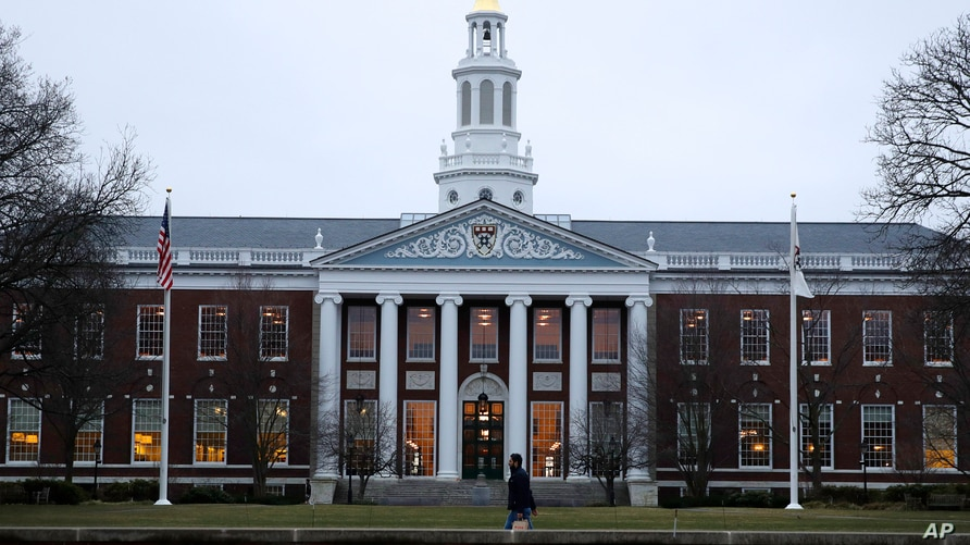 The Baker Library at the Harvard Business School on the campus of Harvard University in Cambridge, Mass., Tuesday, March 7,…