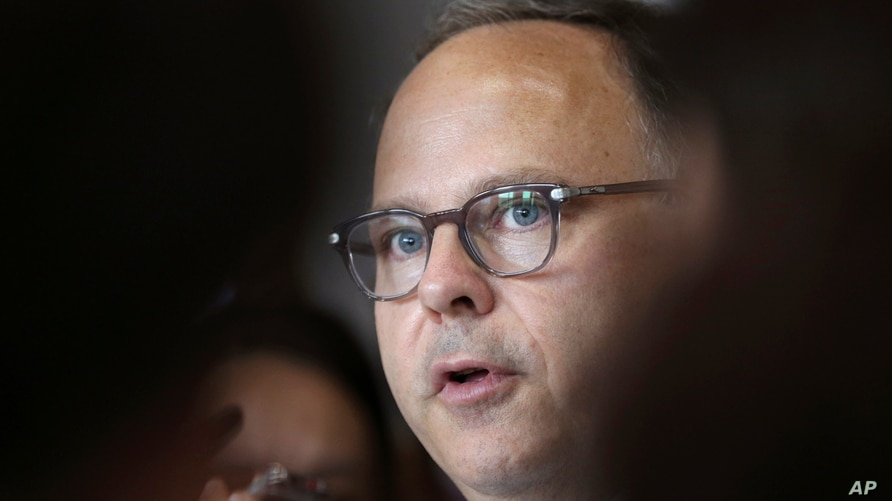 U.S. Special Envoy for Six-Party Talks Sydney Seiler speaks to the media after his meeting with South Korean senior officials…