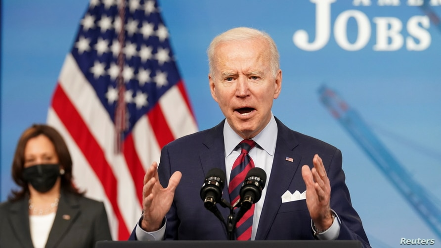President Biden speaks about jobs and the economy from the White House in Washington