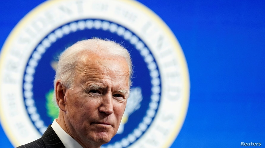 FILE PHOTO: U.S. President Joe Biden speaks speaks during a brief appearance at the White House in Washington