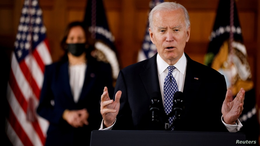 FILE PHOTO: U.S. President Biden speaks
