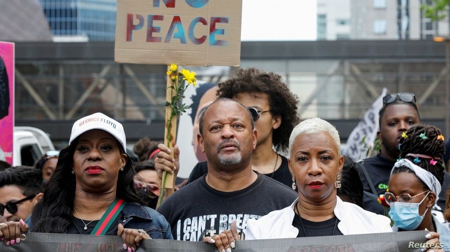 """""""One Year, What's Changed?"""" rally hosted to commemorate the first anniversary of George Floyd's death in Minneapolis"""