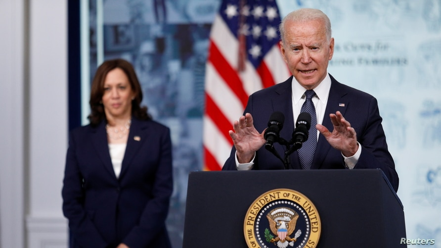 U.S. President Biden speaks about Child Tax Credit tax relief payments at the White House in Washington