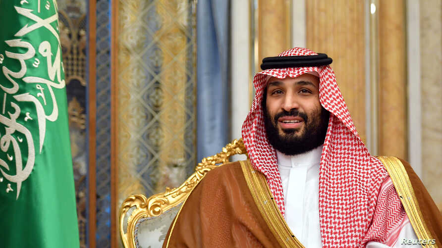 FILE PHOTO: Saudi Arabia's Crown Prince Mohammed bin Salman attends a meeting with U.S. Secretary of State Mike Pompeo in…