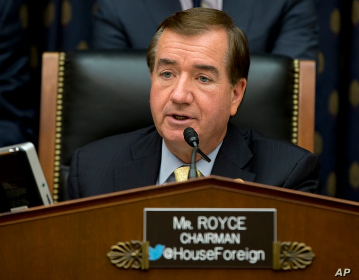 """FILE - """"Removing North Korea from the state sponsor of terrorism list was a mistake,"""" says Representative Ed Royce, a California Republican."""