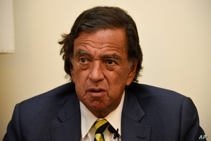 Former New Mexico Gov. Bill Richardson is interviewed by the Associated Press, Jan. 24, 2018.