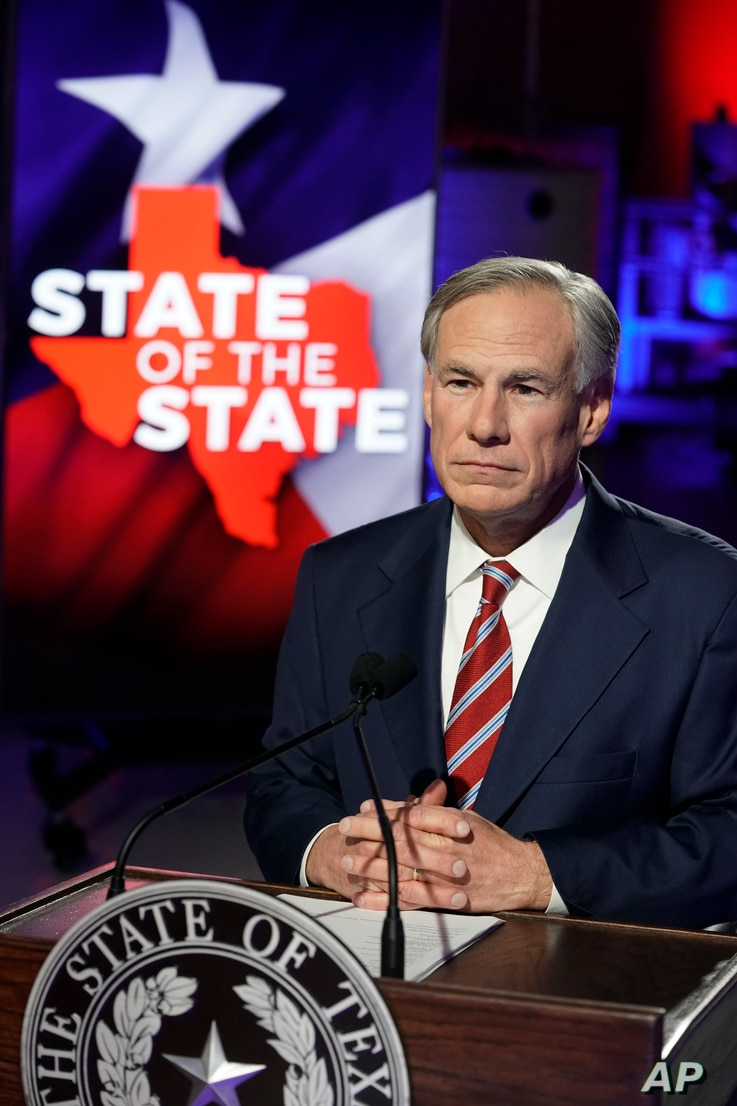 Texas Gov. Greg Abbott prepares to deliver his State of the State speech at Visionary Fiber Technologies, for the first time…