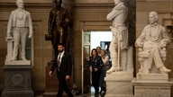 Speaker of the House Nancy Pelosi (D-CA) walks to her office after the House passed a non-binding resolution to limit the US…