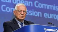 European High Representative of the Union for Foreign Affairs, Josep Borrell, is seen during a video press conference at the…