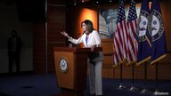 U.S. Speaker of the House Nancy Pelosi (D-CA) delivers remarks during a weekly news conference on Capitol Hill in Washington, U…