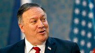 U.S. Secretary of State Mike Pompeo speaks during a joint press conference as part of a meeting with the Prime Minister of…