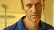 Russian opposition politician Alexei Navalny is pictured at Charite hospital in Berlin, Germany, in this undated image obtained…