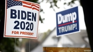 Yard signs supporting Democratic U.S. presidential nominee and former Vice President Joe Biden and against U.S President Donald…
