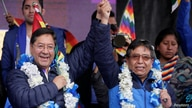 Presidential candidate Luis Arce and vice presidential candidate David Choquehuanca of Movement for Socialism (MAS) take part…