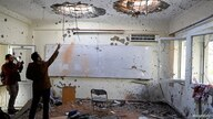 Afghan journalists film inside a classroom after yesterday's attack at the university of Kabul, Afghanistan November 3, 2020…