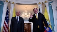 U.S. Secretary of State Mike Pompeo meets with Ecuadorian Foreign Minister Luis Gallegos Chiriboga at the U.S. State Department…