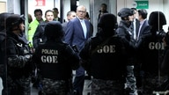 Ecuador's Vice President Jorge Glas arrives to a trial for alleged corruption by case Odebrecht at the National Court of…