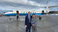 In this image released by the US State Department US Special Representative for Iran Brian Hook welcomes Princeton graduate…