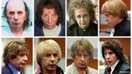 FILE PHOTO: Music producer Phil Spector is pictured wearing a variety of wigs during his murder trial in this combination image…